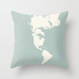 Dymaxion Map of the World Throw Pillow