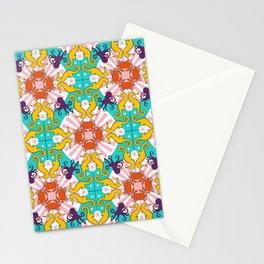 Kaleidoscopic Ocean Animals Stationery Cards