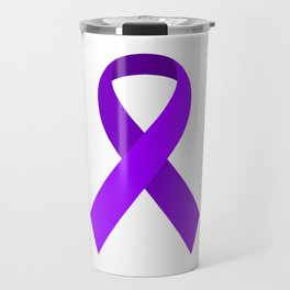 Purple Awareness Support Ribbon Travel Mug