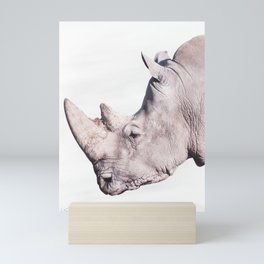 White Rhino Mini Art Print