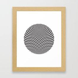 Squares On The Ball Framed Art Print