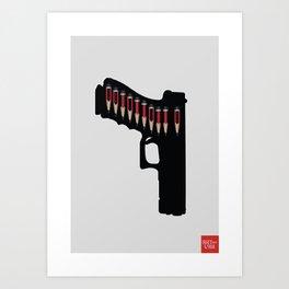 Art not War - Grey Art Print