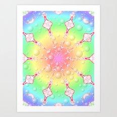 sweet rainbow of mine Art Print