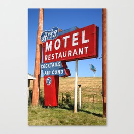 Route 66 - Art's Motel 2012 Canvas Print