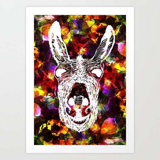 Wonky Donkey Flower  Art Print