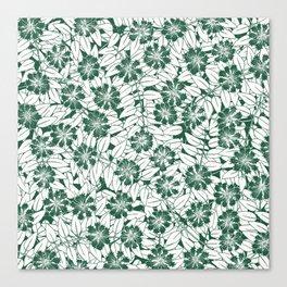 Foliage green Canvas Print