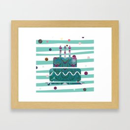 birthday glitter Framed Art Print