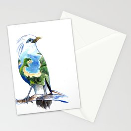 Bali Myna Watercolor Stationery Cards