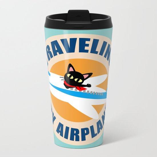 Airplane Metal Travel Mug