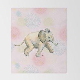Baby Elephant Throw Blanket