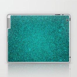 Apatite Teal Sparkling Jewels Pattern Laptop & iPad Skin