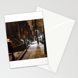 Snowstorm in Boston's South End Stationery Cards