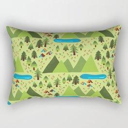 Summer Nature Camping Rectangular Pillow