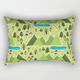 Summer Nature Camping Rectangular Pillow