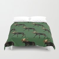 moose Duvet Covers featuring Moose by Elise Cayouette