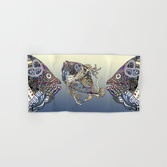 Dragon Fish (Color) Hand & Bath Towel