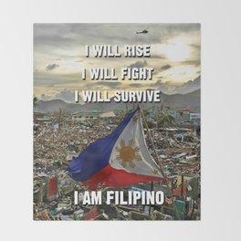 Survive Filipino Throw Blanket