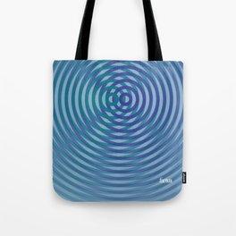 SoundWaves Teal/Indigo Tote Bag