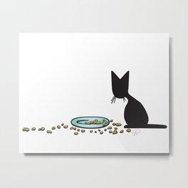 Anytime Dinnertime   (The Naughty Kitten) Metal Print