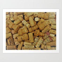 Corks 3 Art Print