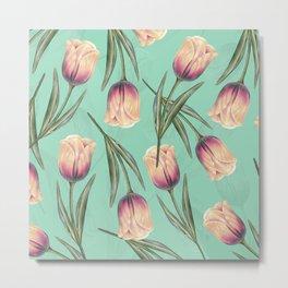 Tulipa pattern 3.3 Metal Print