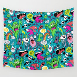 Monster Party Wall Tapestry