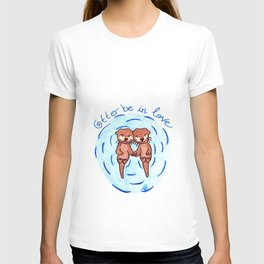 Tiny otters in love T-shirt