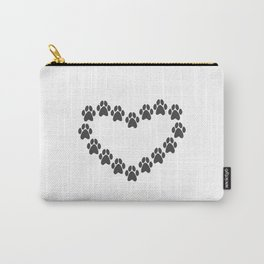Paw Prints Heart Carry-All Pouch