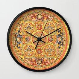 Buddhist Mandala 44 Five Circles Wall Clock