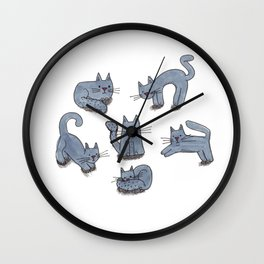Kitty Club Wall Clock