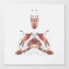 Inkdala X - Brown Rorschach Art Canvas Print