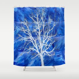 and the seed became tree Shower Curtain