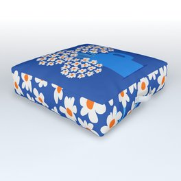 Abstraction_FLORAL_Blossom_001 Outdoor Floor Cushion