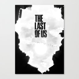 Last of Us Illustrated Poster Canvas Print