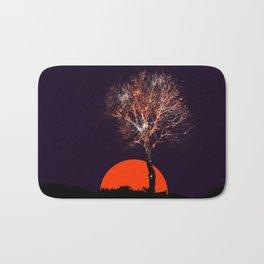 Cosmic tree of fireworks Bath Mat