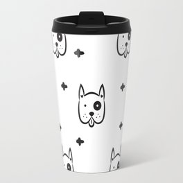 Funny white dog pattern Travel Mug
