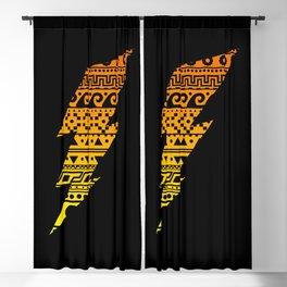 Thunderbolt Black Blackout Curtain