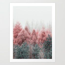 The Forest - pink Art Print