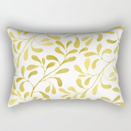 Golden Leaves Rectangular Pillow