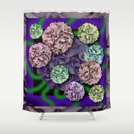HYDRANGEAS FADING ABSTRACT BOUQUET  Shower Curtain