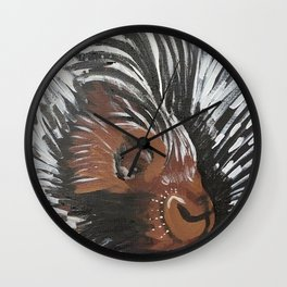 Porcupine by Noelle's Art Loft Wall Clock
