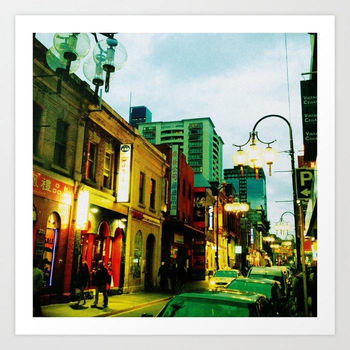 Chinatown Colour Art Print