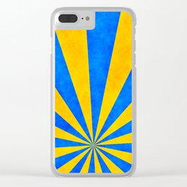 Retro rays Clear iPhone Case