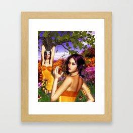 """Sangria"" The Woodland Nymph Framed Art Print"