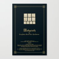 labyrinth Canvas Prints featuring Labyrinth by MacGuffin Designs