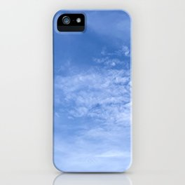 Nice Day with White Clouds in the Blue Sky Good Weather iPhone Case