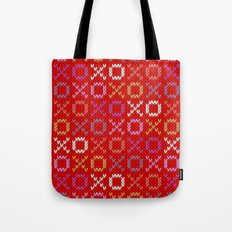 XOXO pattern - red Tote Bag