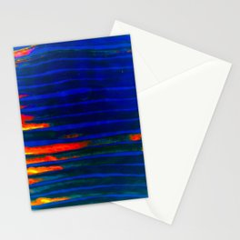 Midnight Blue Lava Lines, Our Earth Burn Marks Stationery Cards