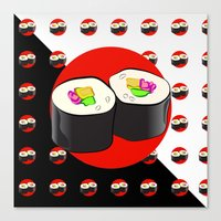 sushi Canvas Prints featuring Sushi! by Oceanic Inks
