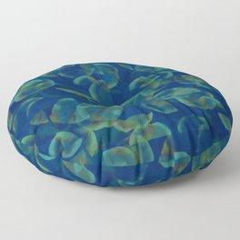 Underwater Glitch Floor Pillow